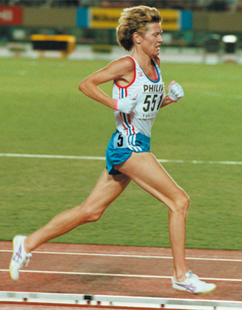 Former marathon world record holder Ingrid Kristiansen