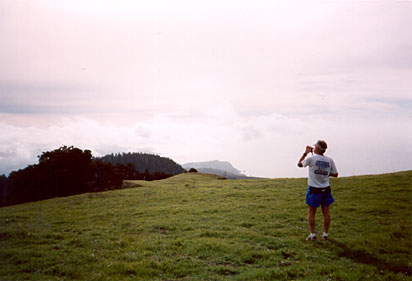 Mr. Oldandslow in his ultrarunning days, bagging it during an outing on Mt. Tamalpais in 1998.