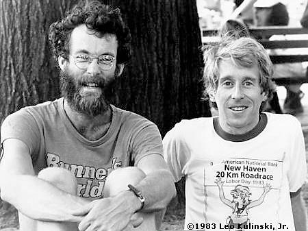 Boston winners Amby Burfoot and Bill Rodgers. Source: Wikimedia Commons
